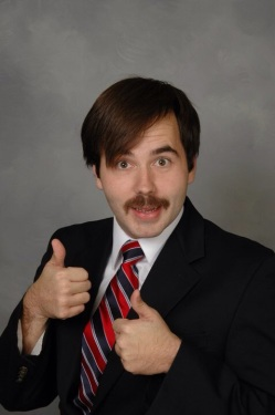 "Behold, the best photo that came up when I Googled ""OfficeMax Mustache!"""